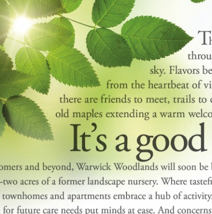 Warwick Woodlands advertising