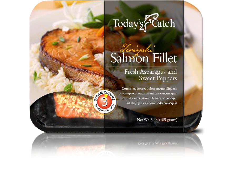 Microwavable Salmon Fillets