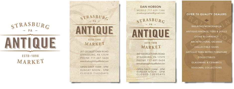 Strasburg Antique Market-design by Groft Design